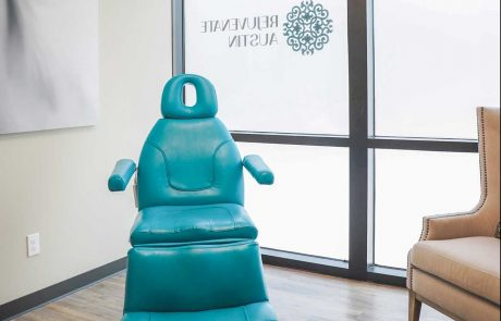 blue patient chair