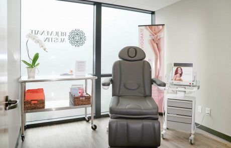 vaginal rejuvenation room with a chair